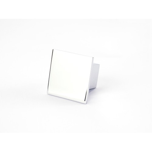 Square Knob Handle Chrome Gloss