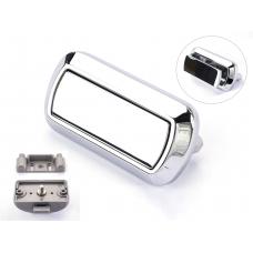 Rectangular Push Lock Handle Set Chrome Gloss