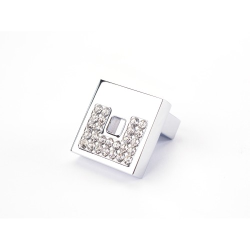 Square Crystal Diamante Knob Handle