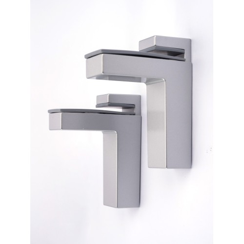Linea Shelf Bracket Matt Silver