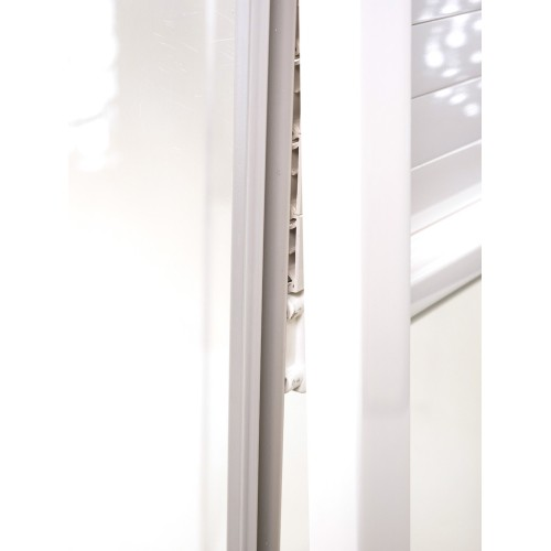 Set of replacement Glossy White Tracks for Modular Tambour Door