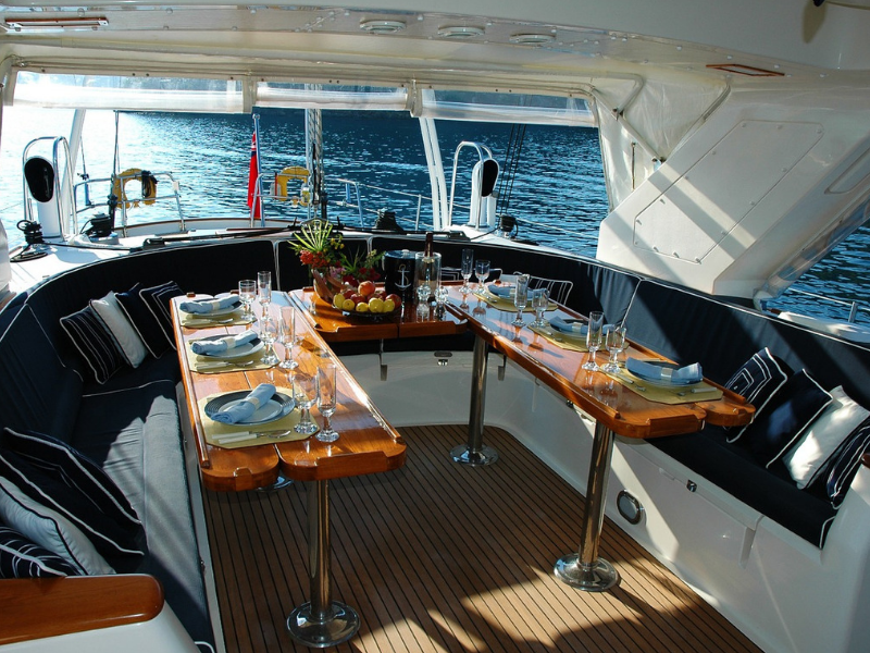 inamge in interior yacht for blog by Fennel UK on door handles and knobs for trade