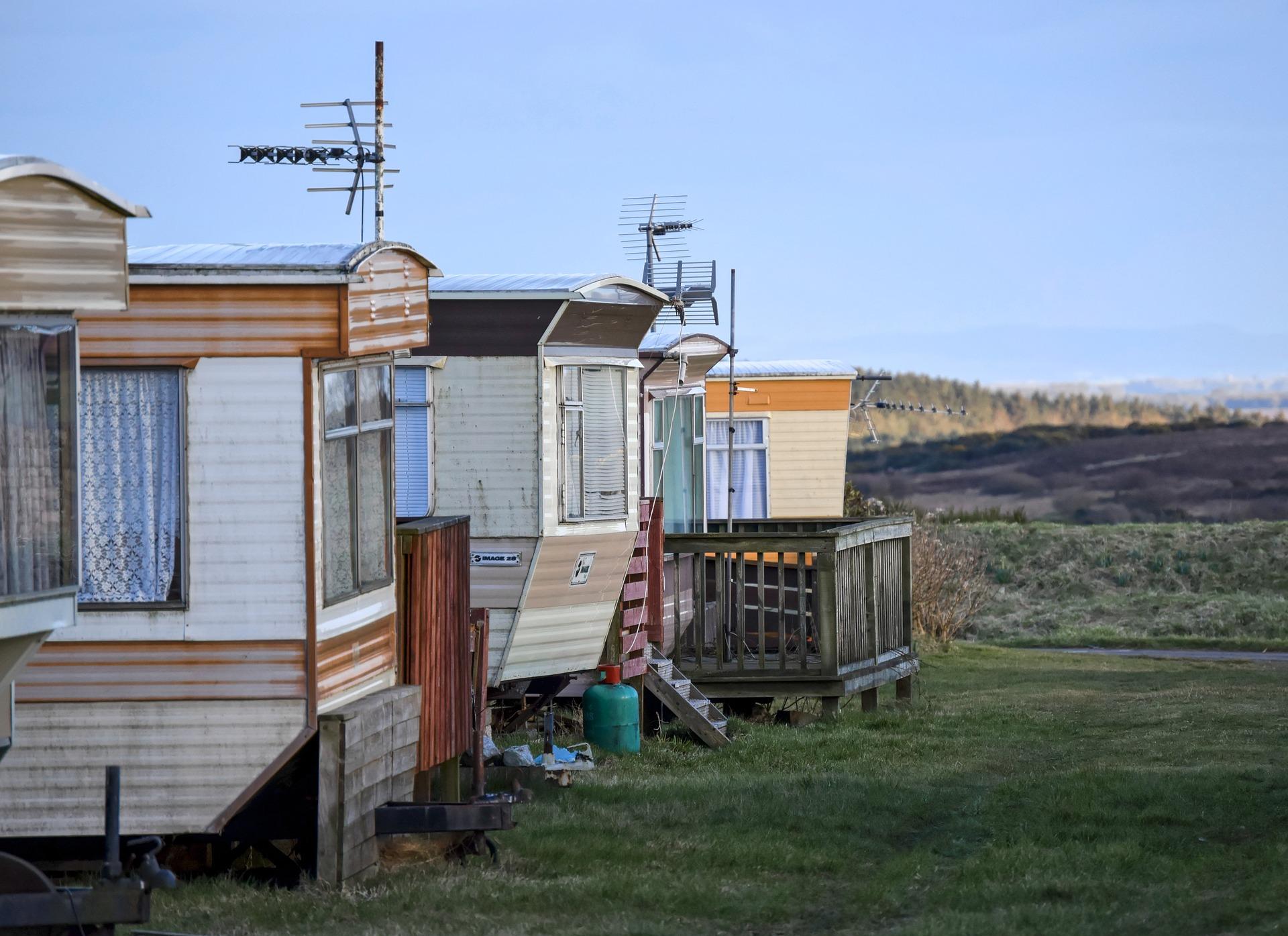 image of dirty caravan park for caravan park owners from Fennel Uk, wholesale retailer of caravan door handles